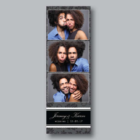 elegant photo booth strip
