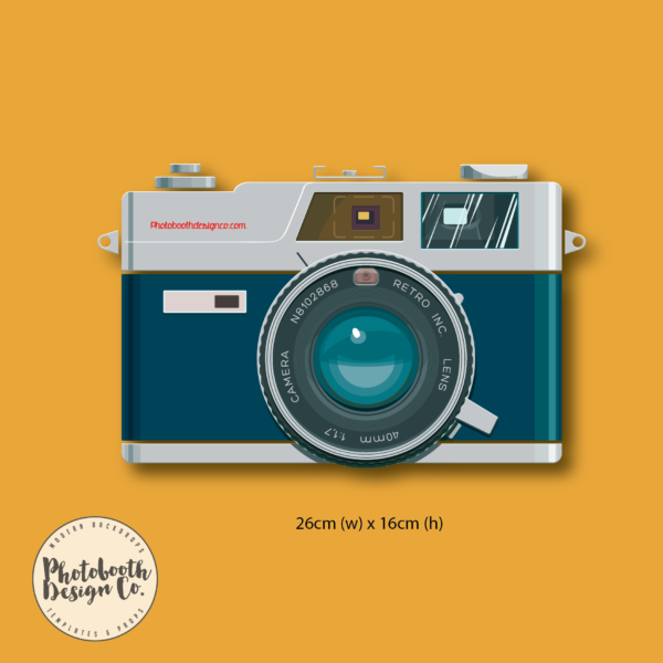 Vintage Camera Photobooth Prop