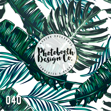 Tropical Photobooth Backdrop
