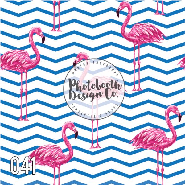 flamingo photobooth backdrop