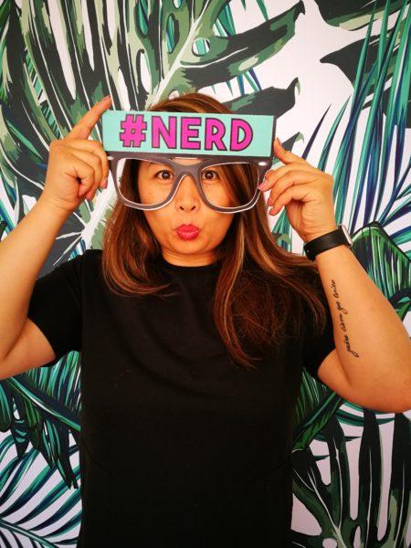 nerd booth prop