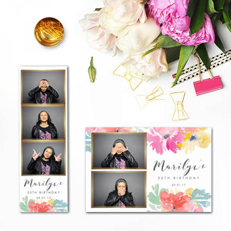 Water Flowers Photobooth Template