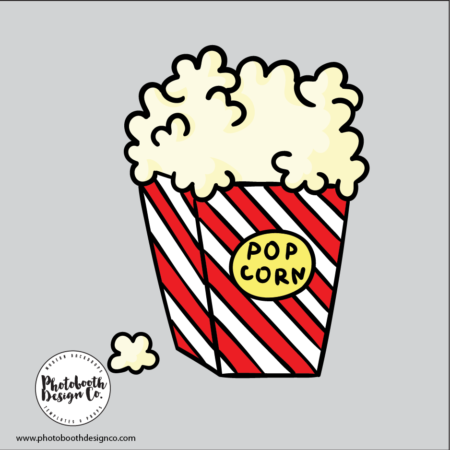 popcorn photobooth prop