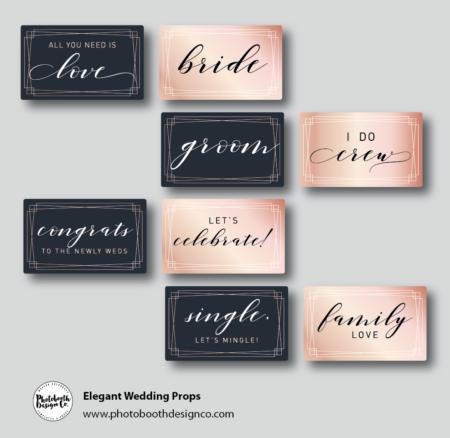 Elegant Wedding Photobooth Props