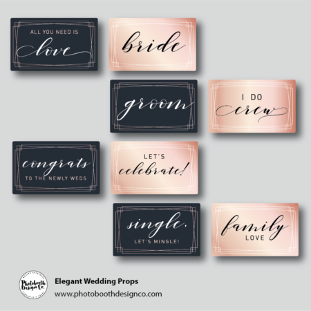 Elegant Wedding Photobooth Props
