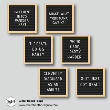Letter Board Photobooth Signs