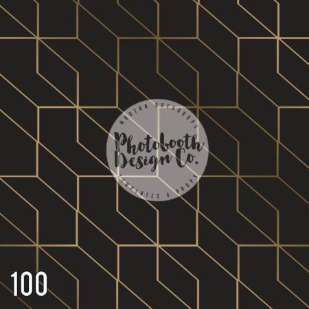 100 black gold geo